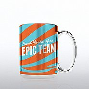 Silver Disco Mug - Proud Member Of An Epic Team