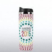 Vibrant Stainless Steel Travel Mug -2015 Making a Difference