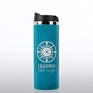 Vibrant Stainless Steel Travel Mug- Compass: Leading the Way
