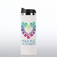 Vibrant Stainless Steel Travel Mug - Making a Difference