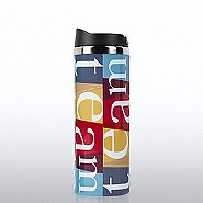 Vibrant Stainless Steel Travel Mug - TEAM