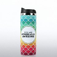 Vibrant Stainless Steel Travel Mug - O'Fishally Awesome