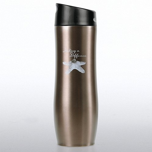 Starfish: Making a Difference Vacuum-Sealed Travel Mug
