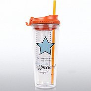 H2O Fruit Infuser Tumbler - You Are Truly Appreciated