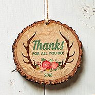 Charming Wood Slice Ornament - Thanks for All You Do