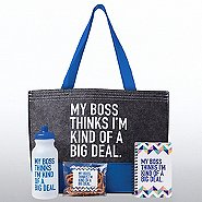Tote-ally Fantastic Gift Set - My Boss Thinks I'm Kind Of...