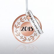 Charming Copper Ornament: 2015, Thanks for a Great Year!
