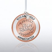 Charming Copper Ornament: You are Truly Appreciated