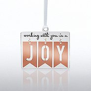 Charming Copper Ornament: Working with you is a Joy