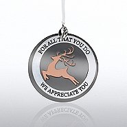 Charming Copper Ornament: Reindeer, We Appreciate You