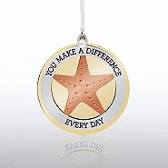 Charming Copper Ornament: Starfish, Making a Difference