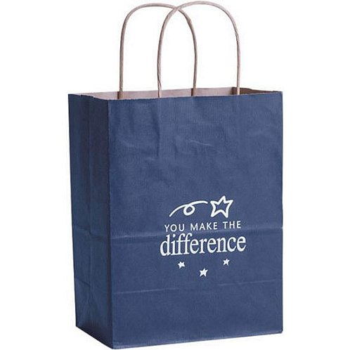 You Make the Difference Blue Kraft Paper Gift Bag