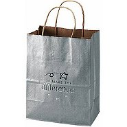 Kraft Paper Gift Bag - You Make the Difference Silver
