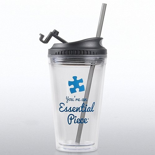 Essential Piece Blue Quick Sip Tumbler