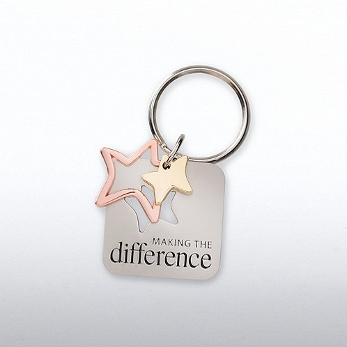 Making the Difference Charming Copper Keychain