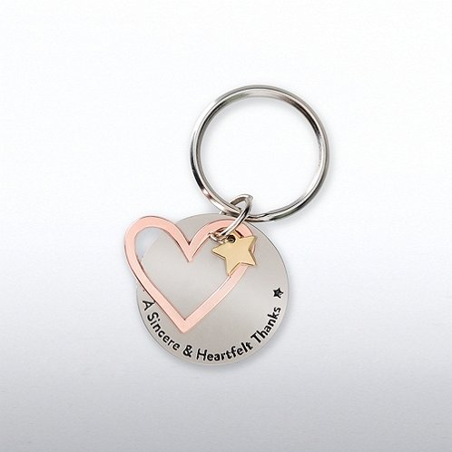 Heart: A Sincere Heartfelt Thanks Charming Copper Keychain