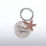 Charming Copper Keychain - Starfish: Making a Difference