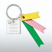 Lovely Leatherette Key Chain - Imagine Believe Achieve
