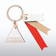 Lovely Leatherette Key Chain - I Radiate Pure Awesome