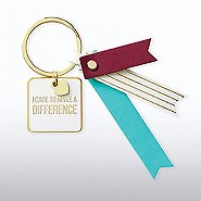 Lovely Leatherette Key Chain - I Care To Make A Difference