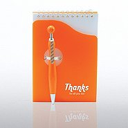 Notepad & Smiley Pen Gift Set - Thanks for All You Do!