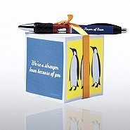 Note Cube & Pen Gift Set - Penguin: Stronger Team