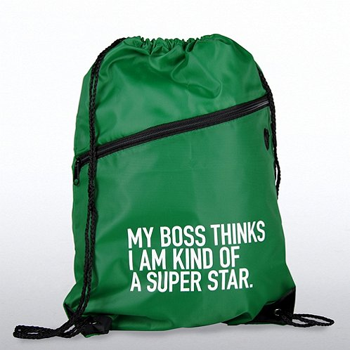 My Boss..I'm Kind of a Super Star Slingpack Bag