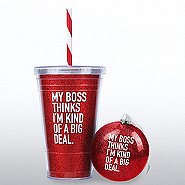 Holiday Glitter Gift Set: My Boss Thinks I'm a Big Deal