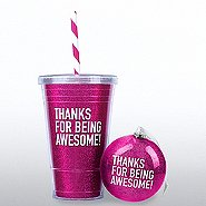 Holiday Glitter Gift Set: Thanks for Being Awesome