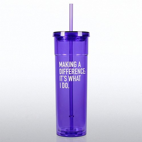Making a Difference It's What I Do Bright Tumbler