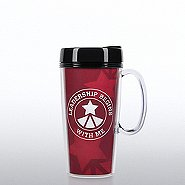 Travel Mug with Handle - Leadership Begins with Me