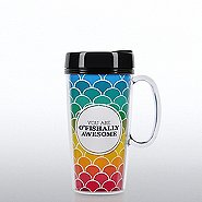 Travel Mug with Handle -You are O'Fishally Awesome