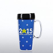 Travel Mug with Handle - 2015: Making a Difference