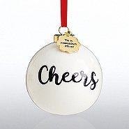 Holiday Cheer Ceramic Bulb- Cheers to a Fabulous Year - 2016