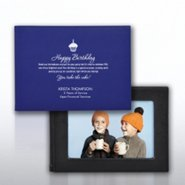 Desktop Photo Book Frame - Royal Blue