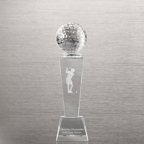 Golf Crystal Sport Trophy - Female