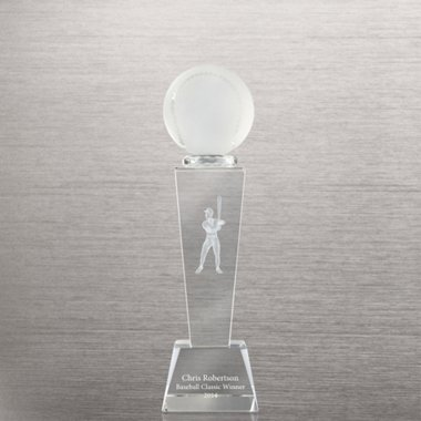 Crystal Sport Trophy - Baseball Male