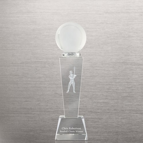Baseball Crystal Sport Trophy - Male