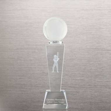 Crystal Sport Trophy - Softball Female