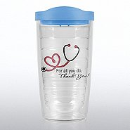 Orbit Double Wall Tumbler - Stethoscope: Thank You