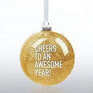 Holiday Glitter Bulb - Cheers to an Awesome Year