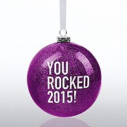 Holiday Glitter Bulb Ornament: You Rocked 2015