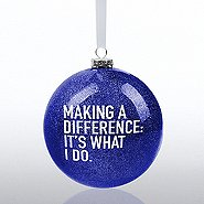 Holiday Glitter Bulb Ornament: Making a Difference