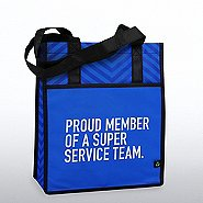 Chevron Shopper Tote - Proud Member of a Super Service Team