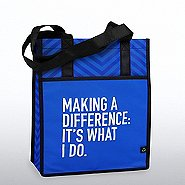 Chevron Shopper Tote - Making a Difference: It's What I Do