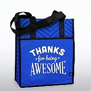 Chevron Shopper Tote - Thanks for Being Awesome