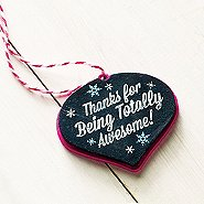 Merry and Bright Chalkboard Ornament - Awesome