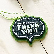 Merry and Bright Chalkboard Ornament - Thank You!