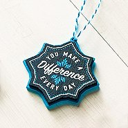 Merry and Bright Chalkboard Ornament - You Make a Difference