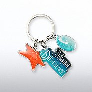 Simply Charming Key Chain - Seascape Starfish